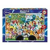 Educa-El Maravilloso Mundo de Disney II Puzzle, 1 000 Piezas, Multicolor (16297)