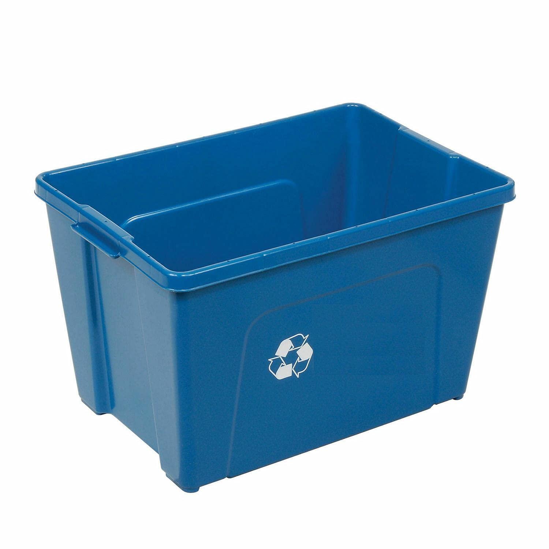 Recycling Bin Blue Plastic 18 Trash Time sale Bathroom Gallon can Max 90% OFF