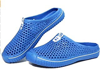 WODETIAN Summer Garden Clogs Mules Shoes Men Womens Mesh Breathable Sandals Beach Water Shoes Outdoor Hollow Out Comfort S...
