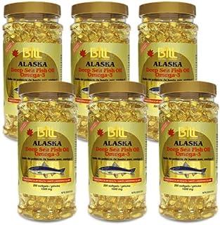 6 Bottles x Bill Natural Sources Alaska Deep Sea Fish Oil 1000mg, 200 softgels (6)