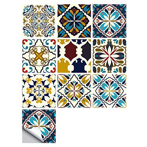 Pegatinas Para Azulejos, Autoadhesivas, Impermeables, Marroquíes, Para Cocina, Baño, Suelo, Pared, Azulejo, Pegatina, Azulejos De Mosaico, Transferencias Para Decoración Del Hogar