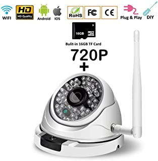 SXTCC Universal 720P Surveillance Camera Home Security 2MP Night Vision HD,50ft Night Vision Motion Detection Alert,for Baby/Pet/Elderly