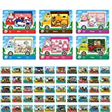 6 PCS + 50 PCS ANCH NFC Tag Game Cards for New Horizons Switch/Switch Lite/Wii U with Storage Case