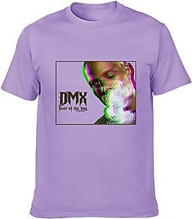 WYZDQ DMX Earl Simmons Camiseta Estampada Hip-Hop Hombres Y Mujeres Sueltos Unisex Manga Corta,Púrpura,S