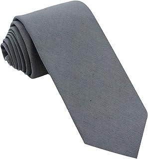 Kebocis Mens Solid Color Necktie Cotton Neck Tie for Men