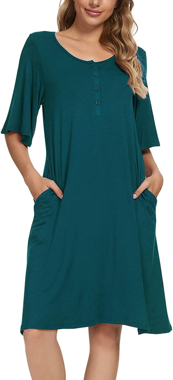 N-A Womens Nightgowns Print Japan Maker Max 50% OFF New Short Sleep Cute Sleeve Nightshirts