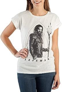 DC Comics Aquaman Shirt Women's Rolled Sleeve T-Shirt