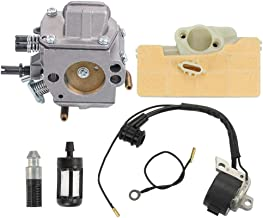 ATVATP MS 390 Carburetor Carb with MS 290 Air Filter Ignition Coil Fuel Filter Oil Filter for Stihl MS290 MS310 MS390 029 039 Chainsaw Saw 0000 400 1300