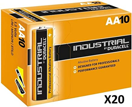 Duracell AA Industrial Battery Alkaline (2 x 10 Packs)