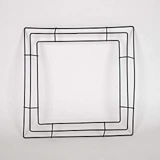 Fuzzy Fabric 16 inch Square Wire Wreath Frames - 10 Pieces