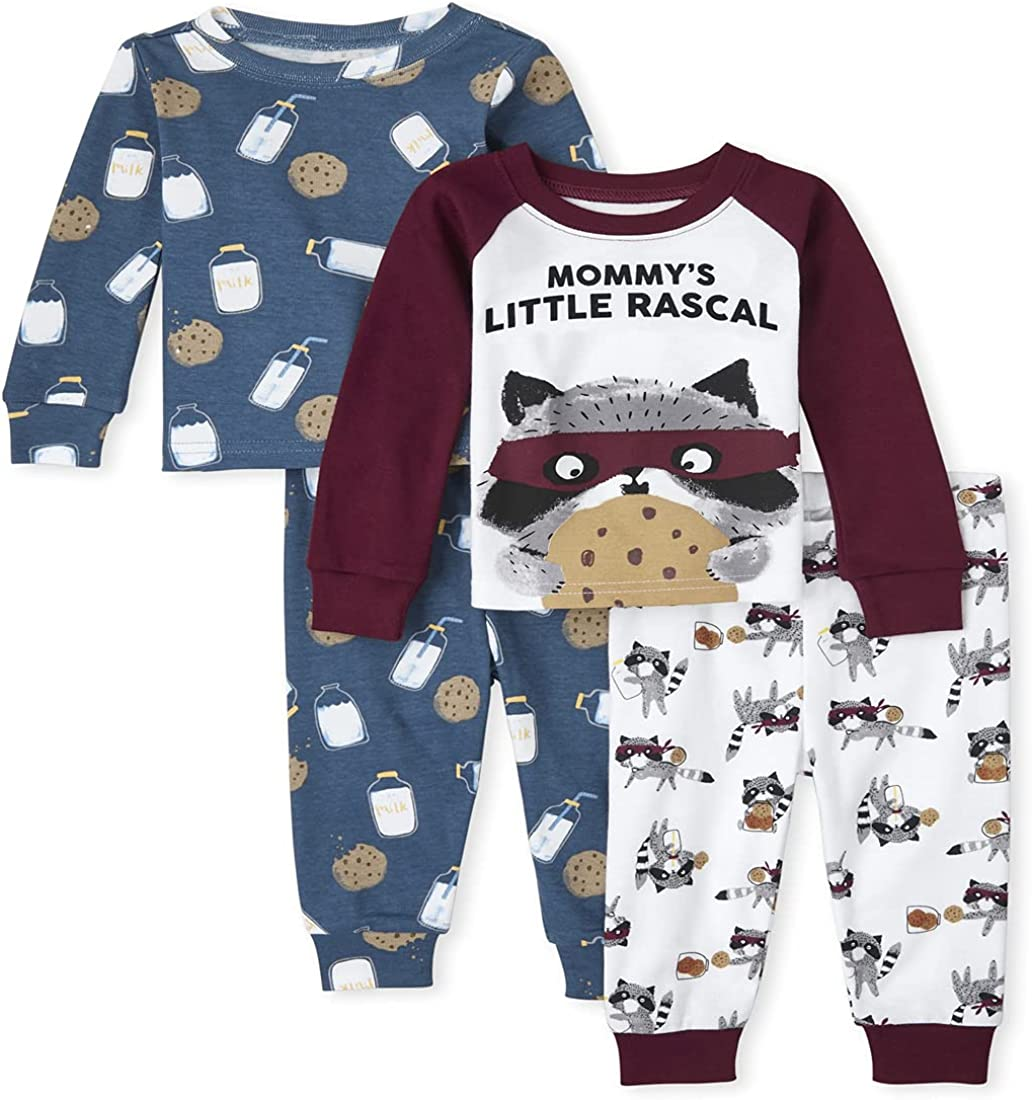 The Children's Place Baby and Toddler Boys Milk and Cookies Snug Fit Cotton Pajamas 2-Pack: Clothing, Shoes & Jewelry