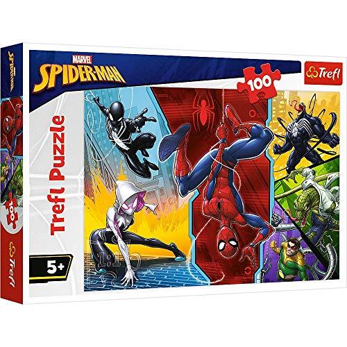 Puzzle infantil de 100 piezas, diseño de Spiderman