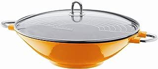 bodum chambord enameled cast iron wok