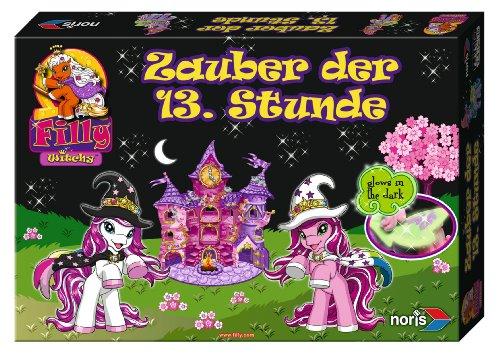 Noris 606011214 - Filly Witchy Black - Zauber der 13 Stunde mit Glow in the Dark Effekten, Kinderspiel