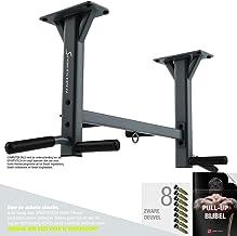 Sportstech 4-in-1 optrekstang KS400 plafondmontage, 6 antislip handgrepen, extreem stabiel, talloze pull-up oefeningen