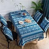 JDHANNE - Mantel rectangular de lino y algodón para mesa de comedor rectangular (140 x 240 cm)