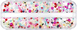 Glow Nail Art Decorations; Mixed Shapes Pearl Design; Approx 720 pieces (NA93)