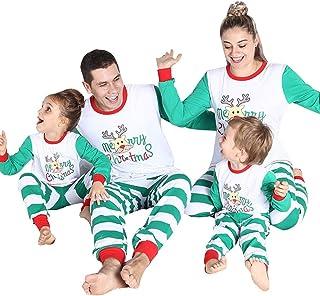 Xmas Family Matching Christmas Pajamas PJs Sets Mom Dad Children Sleepwear  Kids Adult Nightwear 77d685067adc