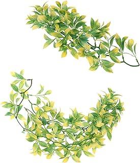 FLAMEER 2 x sztuczny zwierzak gad terrarium liść winorośl wiwarium ozdoba roślina 30 cm/50 cm