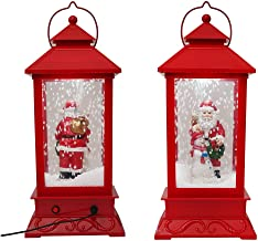 """Highpot Christmas Snow Globe Water Lantern Lamp with Music Santa Snowflakes,Led Lights nd Music Playing Table Top Decoration Gift 18 x18 x 44cm / 7""""x 7""""x17.3"""" A"""