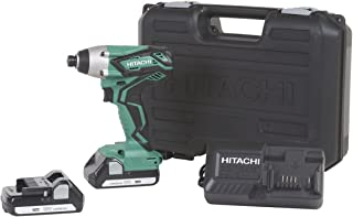 Hitachi WH18DGL 18-Volt 1/4-Inch Cordless Lithium Ion Impact Driver Kit (Lifetime Tool Waranty)