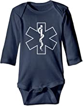 A14UBP Newborn Baby Boys Girls Jumpsuit Romper EMS Print Long Sleeve Jumpsuit Onesie