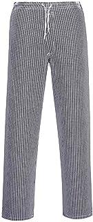 Portwest Pantalon de Cuisine Bromley, Taille Longue, Couleur: Bleu/Black échiquier, Taille: XL, C079CHTXL