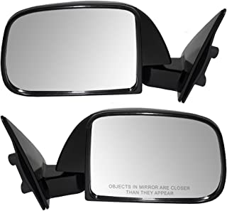 Pair Set Manual Side View Mirrors Sail Mounted Replacement for Toyota Pickup without vent window 8794089147 8791089149 AutoAndArt