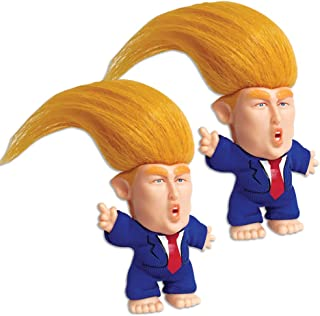 2 Collectible President Donald Trump Troll Dolls - Hair To The Chief Bundle