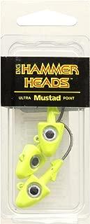 Big Hammer Jig Head with 2/0 Hook, Chartreuse, 3/8-Ounce
