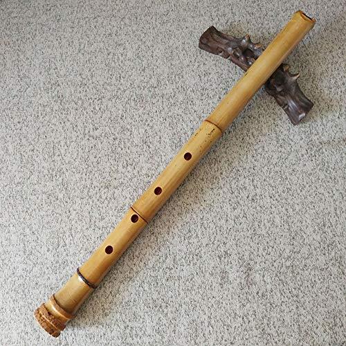 ZSLD 1.8 Pentatonic Shakuhachi Raíz End 5 Agujeros, Natural Shakuhachi Estilo Boquilla - Instrumento Zen Tradicional