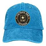 Casquettes de Baseball Homme Femme, U.S. Army Vietnam Era Veteran Adjustable Baseball Caps Denim Hats Cowboy Sport Outdoor