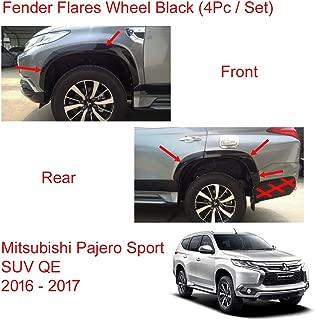 Powerwarauto Fender Flares Wheel Set Black Painted for Mitsubishi Pajero Montero Sport SUV Medium Black Medium Black