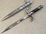 AIT Collectibles S0064 Silver HOLY Angelic Medieval Russian Dagger Sword W/SCROLLWORK Whirl 15'