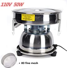 HYYKJ Flour Sifter 110V 50W Electric Automatic Sieve Shaker Vibrating Sieve Machine with 80 Fine Mesh Screen Stainless Steel for Powder Particle Bean US