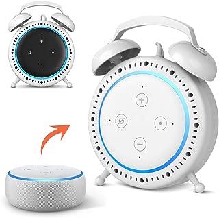 Echo Dot 第3世代 卓上スタンド 卓上マウント スマート すポーカー スタンド レトロな目覚まし時計の外観 Echo Dot 第3世代 カバー グーグル ホーム ミニケース (白)