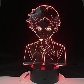 Anime Yakusoku no Neverland Norman lamp Cool 3D Illusion Night Light Home Room Decor Acrylic LED Light Christmas Birthday ...