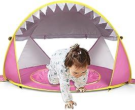 شنای رایگان کودک چادر ساحل کودکانه با استخر ، چادر پناهگاه خورشیدی قابل حمل با محافظت UPF UV 50 برای کودک نوپا 3-72 ماهه (صورتی)