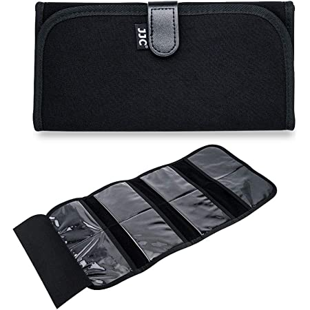 Yinew Digital Cameras Round Square Filter Lens Holder Storage Case Protection from Mirror Shake,3 Pockets,1#