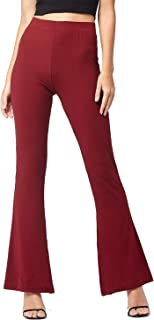 Conceited Premium High Waisted Flared Leg Pants for Women - Solids and Prints - Stretch Palazzo Pants