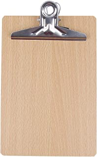 MagiDeal A5 Small Size Wood Clipboard Hard Wearing & eco-Friendly, Perfect for Business, Office, School and Home use