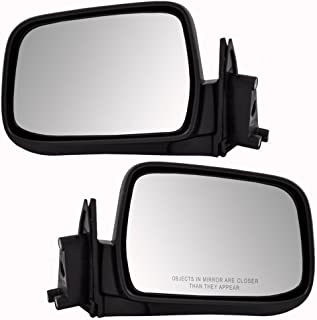 Driver and Passenger Manual Side View Mirrors Replacement for Nissan Pickup Truck SUV 963023S510 963013S510 AutoAndArt