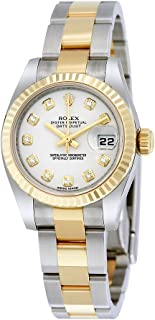 Lady Datejust 26 White Dial Stainless Steel and 18K Yellow Gold Rolex Oyster Automatic Watch 179173WDO