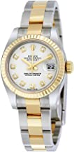 Rolex Lady Datejust 26 White Dial Stainless Steel and 18K Yellow Gold Rolex Oyster Automatic Watch 179173WDO