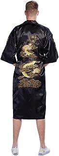 Secret Collection Mens Silk Bath Robe Kimono Dragon Embroidery