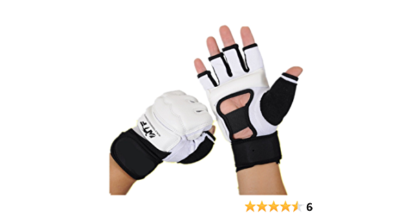Rungear Taekwondo Gloves WTF Approved Training Martial Arts Boxing Sparring TKD Punch Bag Mitts MMA Grappling Karate Fighting for Men Women Kids Black