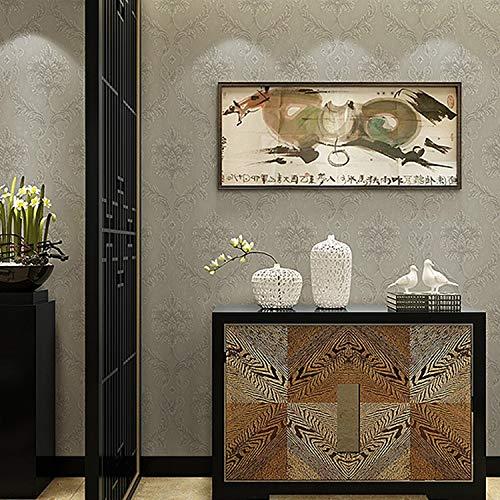 HOUSEHOLD 3D Superpuesta Espuma no Tejida Papel Pintado Europeo Flor Grande de...