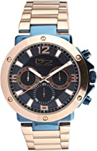 Daniel Steiger Imperial Men's Watch - 316L Grade Premium Stainless Steel Case - Rose Gold & Metallic Blue Finish - Day, Date & 24 Hour Quartz Movement - Water Resistant