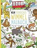 Mein tierisches Wimmel Malbuch: 50 detaillierte Wimmelbilder zum Entdecken und Ausmalen für Kinder ab 6+ Jahren