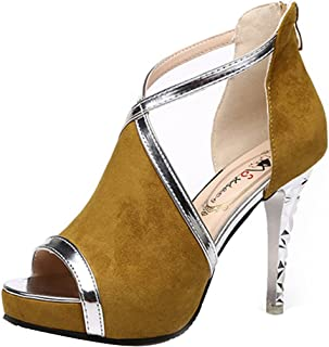 d2ae4199f0 Gaorui Women's Sexy Platform Ankle Strap High Heel Peep Toe Sandal Pump  Stiletto Chunky Dress Party